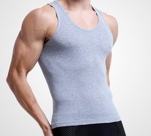 Mens Sleeveless Top Muscle Vest Cotton Undershirts O-Neck Gymclothing Asian size Casual Shirt Underwear