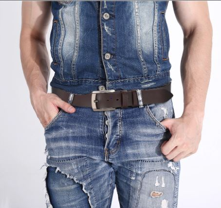 Men's Belts Luxury Cowskin Men's Fashion Belt Men's Denim Jeans