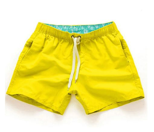 Swimwear Men Solid Quick Dry Shorts Gay Boxer Surf Board Beach Wear