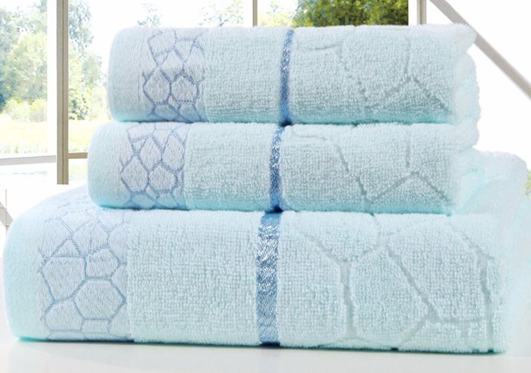 New 100% Cotton Plain Bath Towel Set for Adults Soft Beach Towel Large