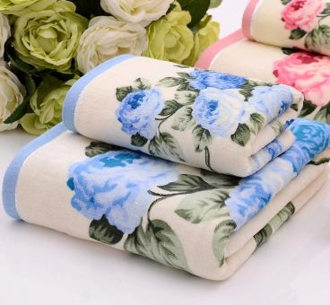 Peony Towel 100% Cotton Men's Towel 76 * 34cm Bath Towel 70 * 140cm High Quality Beach Towel