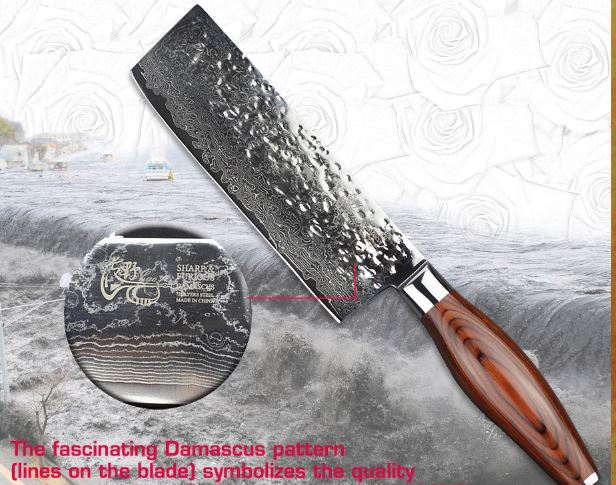 Damascus vegetable chopper kife kitchen knives Japanese dicing tool restaurant cook and luxury home gift NEW