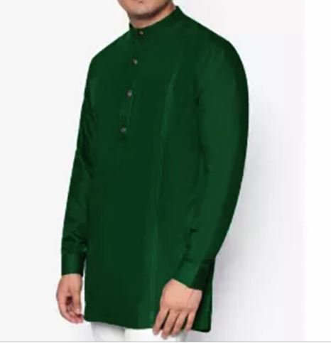 Men Casual Shirt Stand Collar Button Long Sleeve Loose Solid Tops Vintage Shirt Men ClothesRetro Indian Kurta Suit