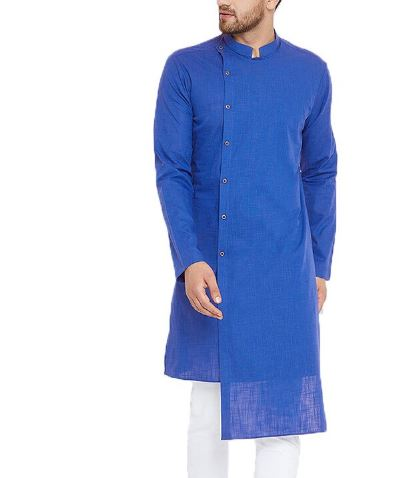 Kurta Suits Men's Shirts Long Sleeve Dress Mandarin Neck Elegant Indian Clothes Kurdish Chemise Male