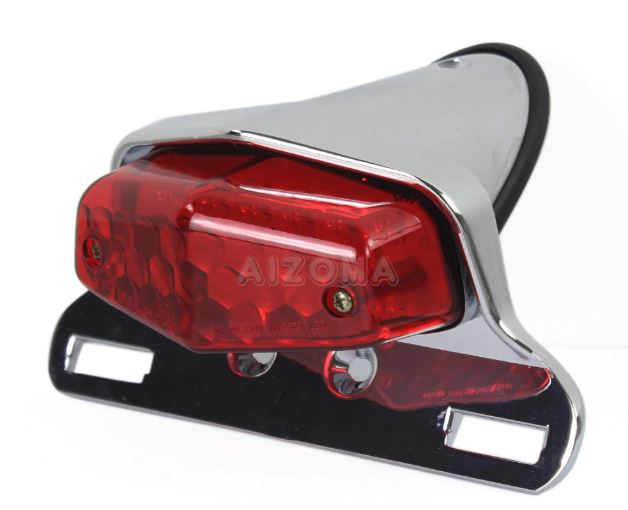 Flashlight LED License Plate Holder Lamp w / Mount for Harley Bobber Fender Retro Cafe Racer choppper