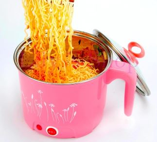 Steel Multifunctional Frying Pan Electric Hot Pot Rice Cooker Egg Noodles Steamed Soup Pan MINI Pan Soup Heating