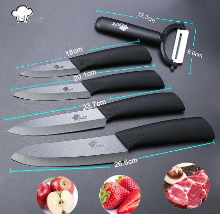 Zirconia Japanese Knife Black Blade Paring Fruit Ceramic Chef Knives Cooking Set