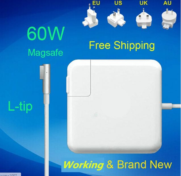 16.5V 3.65A 60W Laptop MagSaf* Power Adapter Charger For Apple Macbook Pro 13''