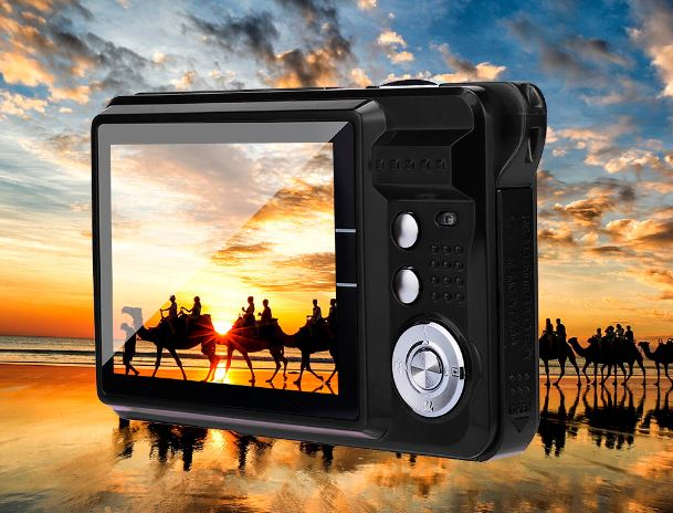 Screen 2.7HD 21MP Anti-Shake Face Detection Digital Camcorder Black White 28 #