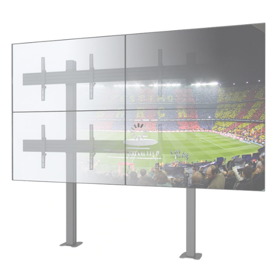 Quad Monitors Stable lcd led video Wall Mounted TV Holder With Cable Management