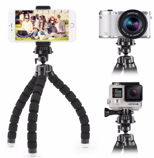 JCKEL Mini Flexible Sponge Octopus Tripod For iPhone Xiaomi Huawei Smartphone Tripod for Gopro Camera Accessory With Phone Clip