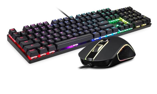 Computer Game Gamer Gaming Mechanical Keyboard And Mouse Set With Light Background Kit USB Keybord