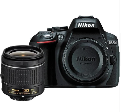 "Nikon D5300 DSLR Camera -24.2MP -1080P Video -3.2"" Vari-Angle LCD -WiFi & AF-P DX 18-55mm f/3.5-5.6G VR Lens"
