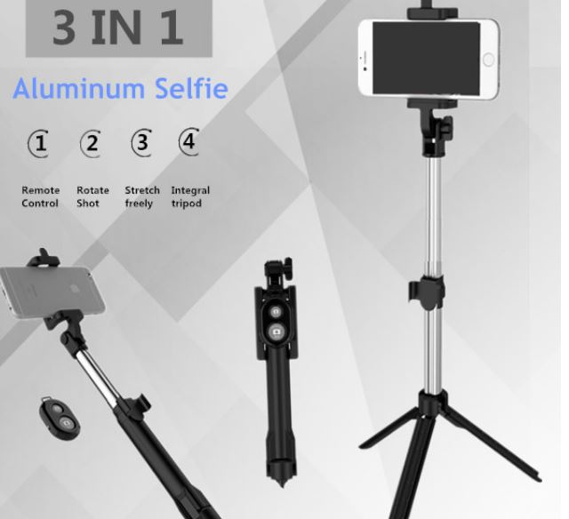 Selfie Tripod Foldable Tripod 3 in 1 Universal Romote Bluetooth Stick For IOS iPhone 6 7 6 s samsung Xiaomi Android