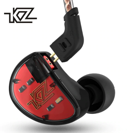 KZ AS10 Headphones Ten Unit 5BA Balanced Armature Driver In Ear Monitor Sport Headset Noise Cancelling Earbuds HIFI Earphones