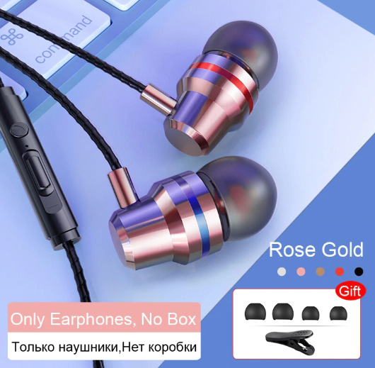 TOMKAS Wired Earbuds Headphones 3.5mm For Samsung Xiaomi Phone Computer