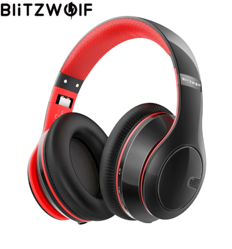 BlitzWolf Wireless bluetooth Headphones  Mic For PC Phone MP3