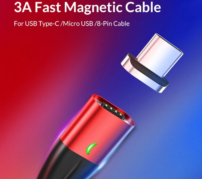 Magnetic Cable Fast Charging Type C Cable For iPhone Charger Data Charge Micro USB Cable Quick Charge 3.0 USB C Cable