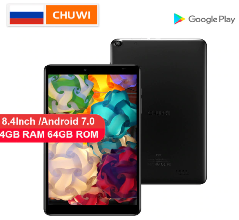 CHUWI Hi9 Tablet PC MTK 8173 Quad core Up to 1.9GHz 4GB RAM 64GB ROM Android 7.0 8.4 inch 2.5K screen 5000mAh