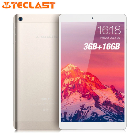Teclast P80 Pro Tablet PC 8.0 Inch HD Android 7.0 Upgraded 3GB RAM 16GB eMMC ROM MTK8163 Quad Core Double Cams