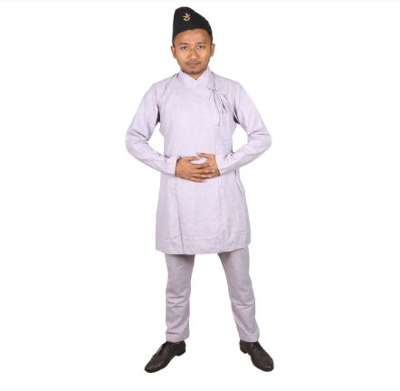 Daura Surwal For Men-Light Purple