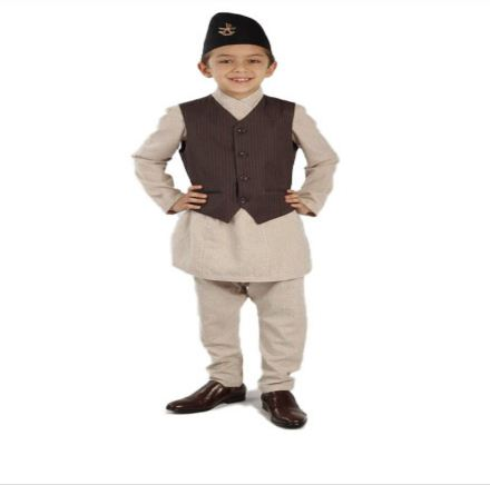 Daura, Suruwal, Waistcoat and Topi for Kids (8 years- 11 years old boy)