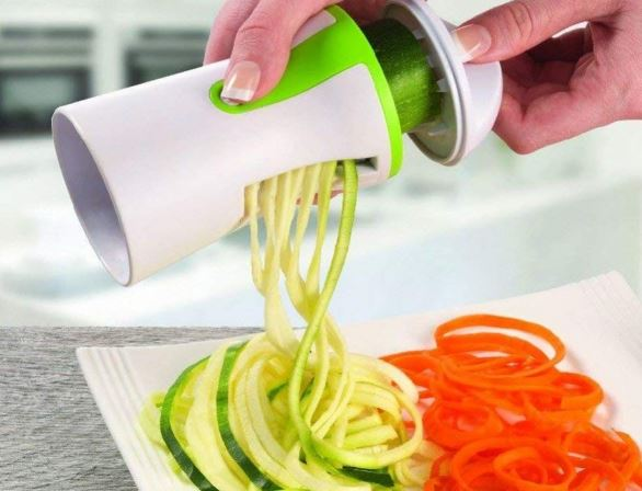 Handheld Spiralizer Vegetable Spiralizer Slicer Peeler Slicer Stainless Steel Spiral for Potatoes Zucchini Spaghetti