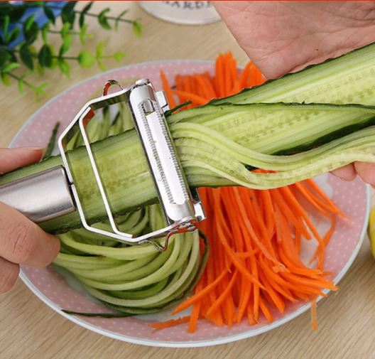 Multi-function Stainless Steel Peeler & Julienne Cutter Julienne Cutter Potato Peeler Carrot Grater Kitchen Tool
