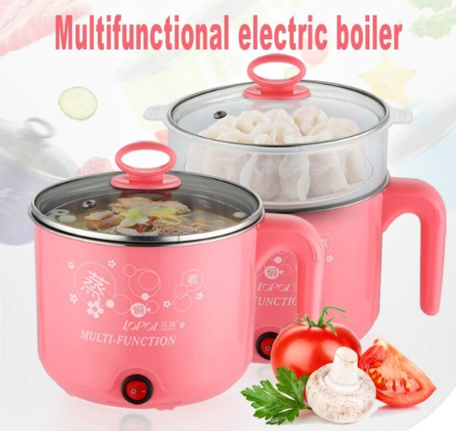 Cute 1.8L 450W Multifunction Electric Cooker Stainless Steel