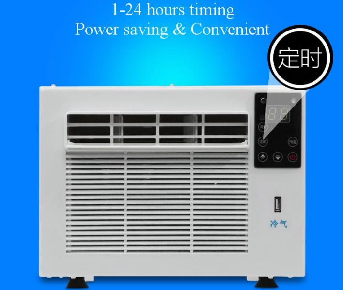 Air Conditioner Portable 24-Hour Timer 110 V / AC 950 W 2 Gear LED Lighting Control Panel With Remote Control