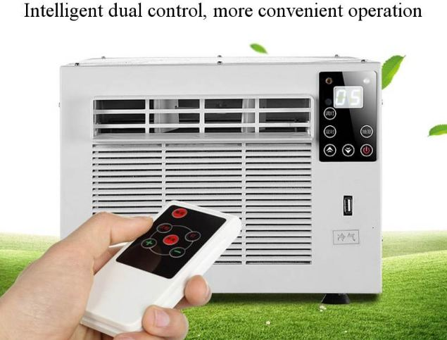 Desktop Air Conditioner 220 V / AC 24-Hour Hot / Cold Dual-use Timer With Remote Control Panel