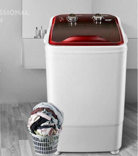 High Capacity Cylinder UV Violet Bionic Wheel Mini Washing Machine Hand Wash Small Wave Semi Red Agate