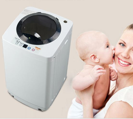 Wheel Anti-winding Fully Automatic Noise Reduction Washing Machine Mini Small Transparent Baby Washing Machine