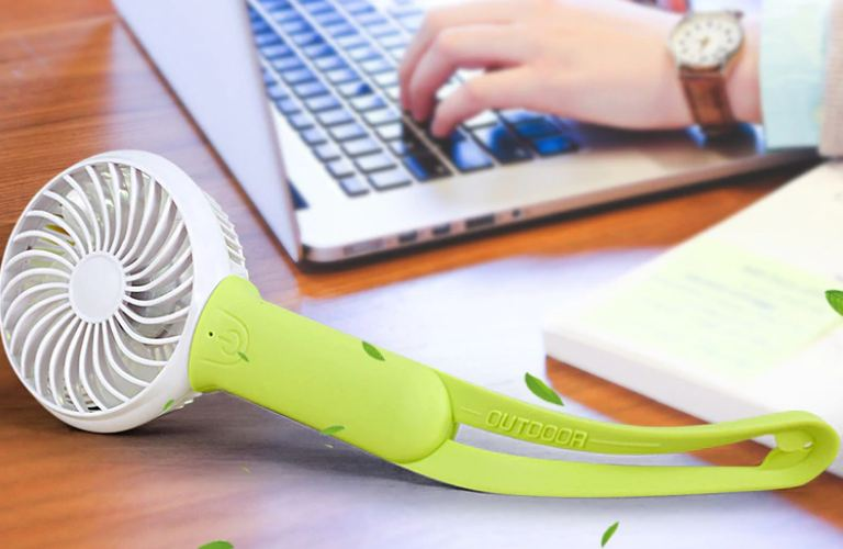 Mini usb air conditioner cooler fan portable cooling fan LED adjustable speed heat rechargeable battery