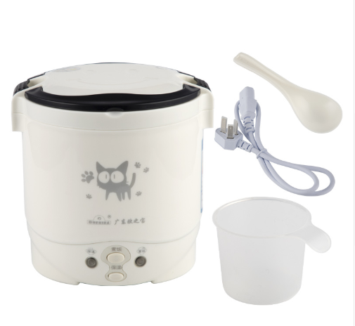 1L Electric Mini Rice Cooker Used In House 220V Or Car 12V Truck 24V Multicookings