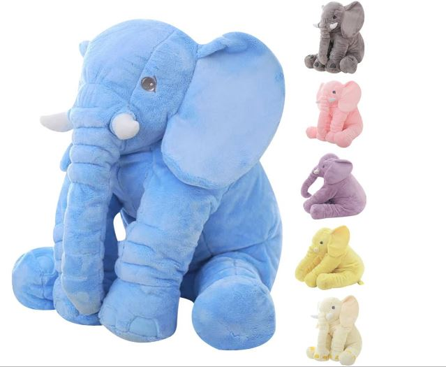Height Big Elephant Plush Toy Doll Children Sleeping Back Cushion Cute Elephant Plush Baby Watching Christmas Gift Doll