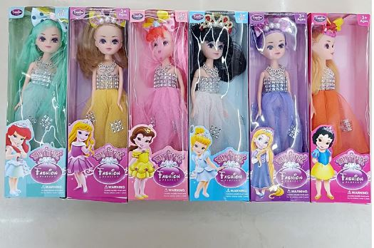 Toy Cute Girl's Birthday Gift Toy Cute Beautiful High Quality Six Different Hairstyles and Colorful Clothes