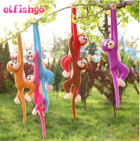 Long Arm Tail Monkey Curtains Baby Sleep Soothing Plush Doll Plush Toys Doll Animals Birthday Gifts