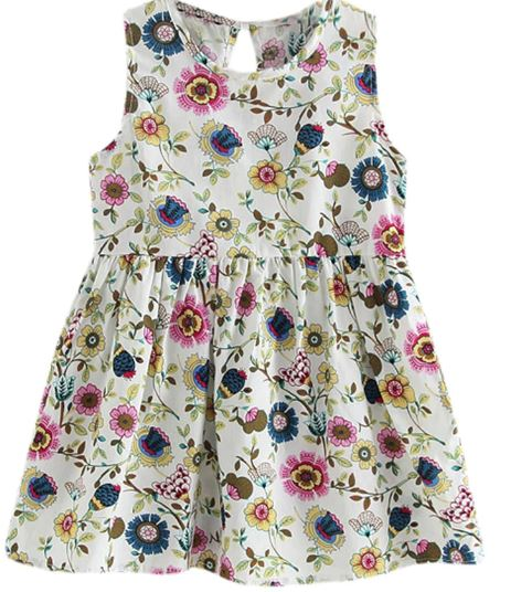 Girls Child Toddler Baby Wedding Party Princess Summer Print Kids Children Sleeveless Dresses Baby Girl Dresses Summer Dress