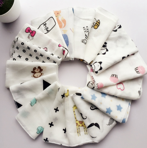 10pcs Baby Infant Towel 28*28cm Muslin Towel