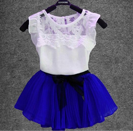 Baby Summer Clothes Girls Dress Sport Suits For Girls 2 Pieces Set Clothing Shirts + Skirts Kids Clothes