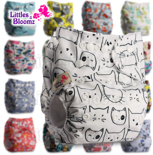 Littles&Bloomz Baby Washable Reusable Real Cloth Pocket Nappy Diaper