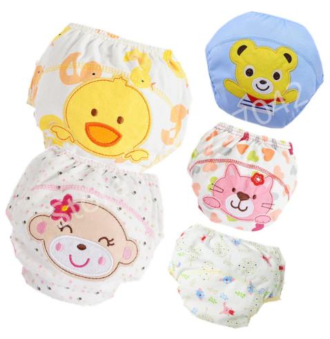 Baby Cotton Training Pants Panties Baby Diapers Reusable Cloth