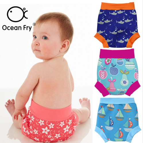 Infant Children Leakproof Swimming Nappies Newborn Baby High Waist Swimming Trunks