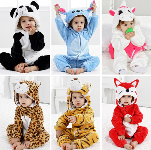 Baby Pajamas Animal Clothes for Sleeping Girl Rompers Kids Winter Baby Sleepwear