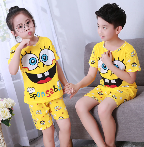 Pajamas set for children Summer Boys Girls Kids home Clothing