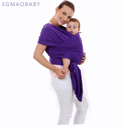 EGMAOBABY Baby Carrier Sling For Newborns Soft Infant Wrap Nursing Cover