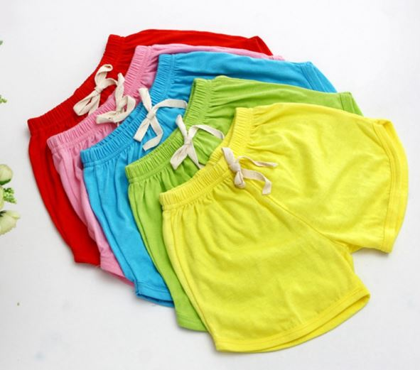 Girls Casual Cotton Shorts Sweet Summer Color Beach Wear Solid Color Loose Bottom Short Pants