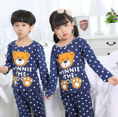 Pajamas set for children spring kid's home clothes