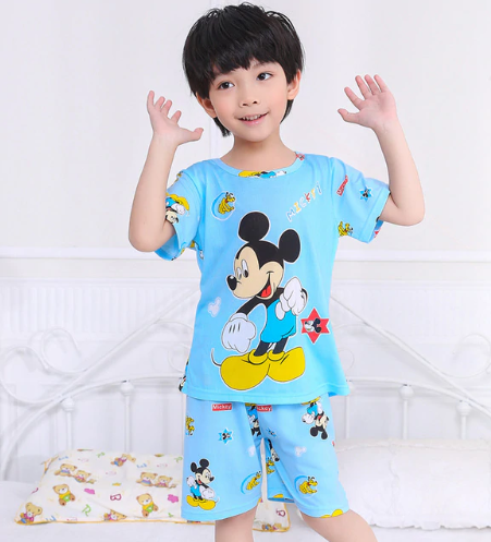 Cartoon Children Short Sleeve Pajamas